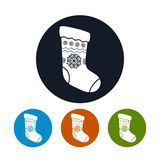 Icon of a Christmas Sock Royalty Free Stock Photo
