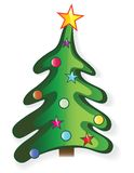 Icon christmas tree Stock Images