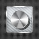 Icon with chrome volume knob Stock Photo