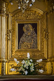 Icon in church in Krakow Poland Royalty Free Stock Image