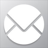 Icon circle mail Stock Image