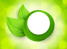 Icon with circles and leaves Stock Photos