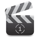 Icon for clapper board Royalty Free Stock Photography