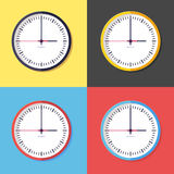 Icon of clock. Colored icons of clock, flat style Royalty Free Stock Photos