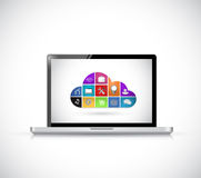 Icon cloud computing computer concept Stock Photo