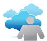 Icon cloud computing illustration design Royalty Free Stock Photos