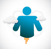 Icon cloud computing illustration design Stock Photos