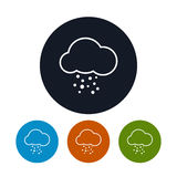 Icon cloud with hail ,   vector illustration Royalty Free Stock Images