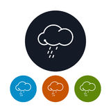 Icon cloud  with the rain ,   vector illustration Stock Images