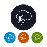 Icon cloud with thunderstorm ,   vector Royalty Free Stock Photography