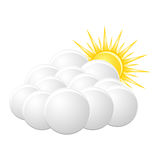 Icon cloudy Royalty Free Stock Images