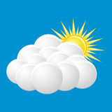 Icon cloudy Stock Images