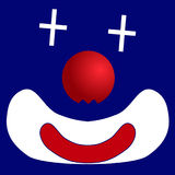 Icon clown Stock Photography