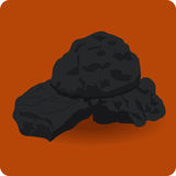 Icon coal Stock Images