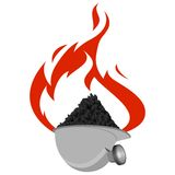 Icon coal industry-5 Stock Photo