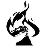 Icon coal industry Royalty Free Stock Image
