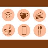 Icon for coffee shop. Icon for coffee shop Basic Royalty Free Stock Photo