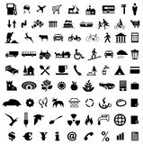Icon collection. Collection of various icons vector Stock Photography