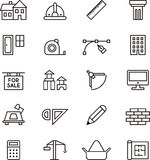 Icon collection for architecture and construction Royalty Free Stock Images
