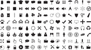 Icon Collection Royalty Free Stock Images