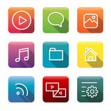 Icon Collection Vector Application Content Concept Royalty Free Stock Images