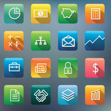 Icon Collection Vector Application Content Concept Stock Photos