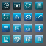 Icon Collection Vector Business Financial Concept Stock Image