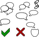 Icon. Colloquial ring marking yes not a piece of chain in ion set royalty free illustration