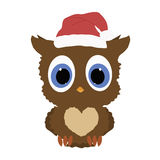Icon color baby cute little owl on a white background. Stock Image