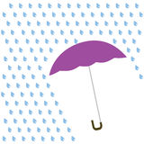 Icon color umbrella with rain. Raster Stock Photography