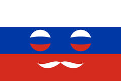Icon in colors of the Russian flag Stock Photos