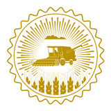Icon combine harvester of wheat ears Royalty Free Stock Photography