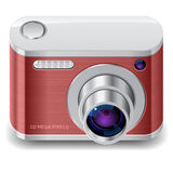 Icon for compact photo camera Stock Image