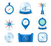 Icon compass blue Royalty Free Stock Photos