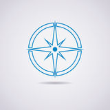 vector icon of compass royalty free illustration