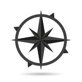 Icon compass flat style design with shadow Stock Photo