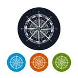 Icon compass rose,  vector illustration Royalty Free Stock Photography