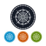 Icon compass rose,  vector illustration Stock Photography