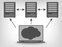 Icon of computer servers Stock Photo