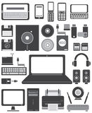 Icon computer and technology   Royalty Free Stock Photo