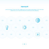 Icon Concept vectors design  blue color Stock Photography