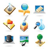 Icon concepts for knowledge Royalty Free Stock Photo