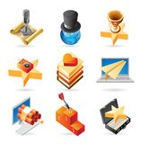 Icon concepts for media Stock Image
