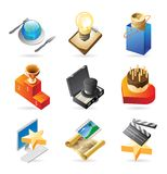 Icon concepts for media event Royalty Free Stock Photography