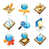 Icon concepts for science Royalty Free Stock Photography