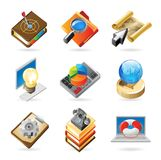 Icon concepts for work Stock Photography