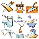 Icon Construction. 9 set by illustration Stock Illustration