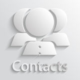 Icon contacts Stock Images