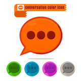 Icon conversation colorful design vector on white background. Icon set conversation colorful design vector on white background Stock Image