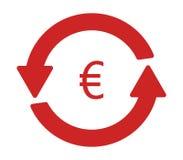 Icon convert euro illustrated Royalty Free Stock Photo